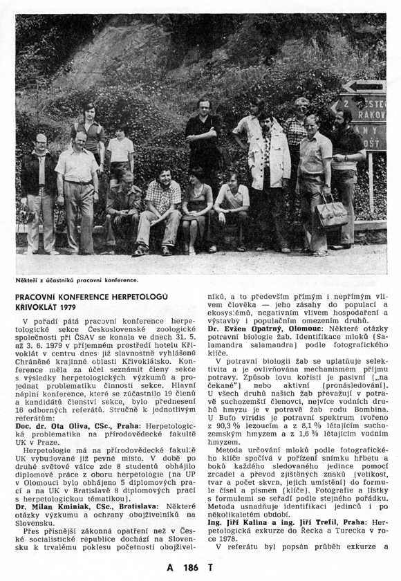 1979 - Herpetological conference Krivoklatsko
